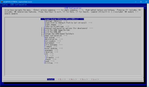 buw-lede_menuconfig